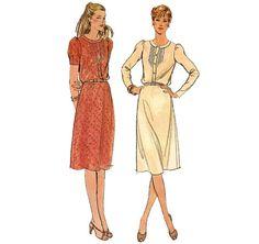 1970s Womens Dress  Butterick 3549 Vintage Pattern  by ErikawithaK