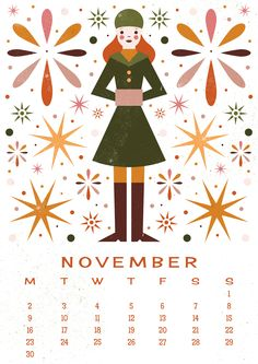 Carly Watts Art & Illustration: Free Printable: November Calendar