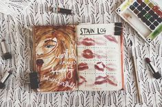 Stain log | Wreck this journal explorations by from panka with love (Luca Gerda László) | I decided that I want to share completing my Wreck this Journal, this sometimes hectic, most of the time not as pretty as it should be but all the time thought-consuming journey with you guys too, both on my blog and my facebook page too, hope you will come along! Nyírd ki ezt a naplót!