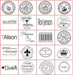 Handmade by custom rubber stamp tag label with by stampoutonline, $25.00