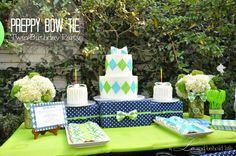Preppy Bow Tie Birthday Party via a LO and Behold Life