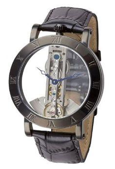 M. Johansson Automatic Full Skeleton Leather Menu0027s Watch SirmiLB: Watches:  Amazon.com