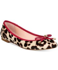Sweet meets fierce in the dainty bow and leopard print design on kate spade new york's Willa ballet flats for a fun accent to a variety of styles. | Calf hair upper; leather sole | Imported | Round-to