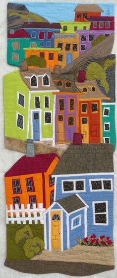 This is soooo cool! Colours To Live By by Marianne Parsons | Fibre Art Network