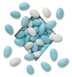 Blue and White Chocolate Almonds