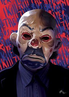 """""""I Kill the Bus Driver"""" The Joker in The Dark Knight - Flore Maquin Le Joker Batman, Harley Quinn Et Le Joker, Joker Clown, Batman Dark, Batman The Dark Knight, Clown Mask, Batman Comic Art, Marvel Art, Heath Ledger Joker"""
