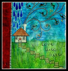 Leftovers Art Journal Page Kristi Wildung