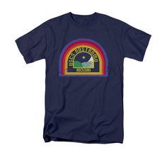 Alien Nostromo Logo on Navy T-Shirt