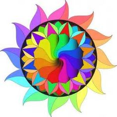 color wheel design - Yahoo Image Search Results Primary Secondary Tertiary Colors, Color Wheel Design, Intro To Art, Geometry Art, Rainbow Colors, Bright Colors, Fractal Art, Art Lessons, Sewing Projects