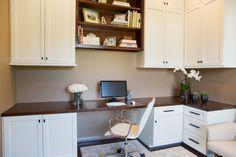 Home office remodel; desk; chair; rug; cabinetry; bookshelf decor   Interior Designer: Carla Aston / Photography by Tori Aston