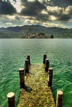 Underwater Dock, San Giulio, Italy-italy is my next stop!!