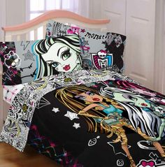 Monster High Bedding, Bedding Sets & Bedroom Decor Monster High Bedding for Kids Featured here is Monster High bedding for girls and boys. Included are such items as bed sets, comforter sets, sheets, pillow cases and kids room decor. Bedding is available in twin and full size. Showcased are som