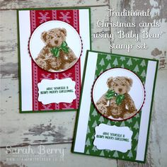 Baby bear Christmas by Sarah Berry Stampin' Up! Demonstrator UK