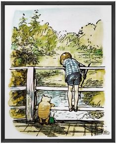 Classic Winnie-the-Pooh Print, Poster, Baby print, Vintage book Print, on Etsy, $17.32 CAD