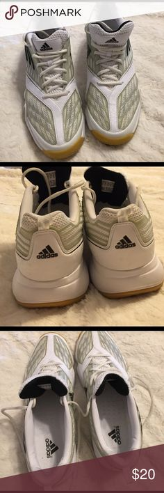 Adidas Adiprene sneakers. Men's size 10 These were worn once, so they are in excellent condition; only sign of wear is dirt on soles from walking outside the one time they were worn. Can be worn as court shoes, soccer, tennis, walking etc. They have ankle abrasion protection. Adidas Shoes Athletic Shoes