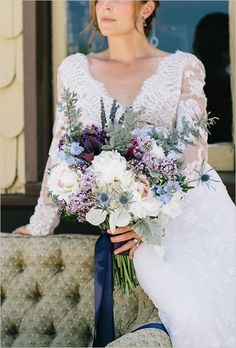 Elegant Purple and Navy Wedding Inspiration. This next wedding inspiration was elegantly styled by Primrose and Company and features a rich and bold color palette of purple and navy Tea Party Wedding, Next Wedding, Chic Wedding, Wedding Trends, Wedding Designs, Wedding Bride, Fall Wedding, Dream Wedding, April Wedding