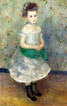 Pierre Auguste Renoir - Portrait of Jeanne Durand-Ruel, 1876 at Barnes Foundation Philadelphia PA by mbell1975, via Flickr