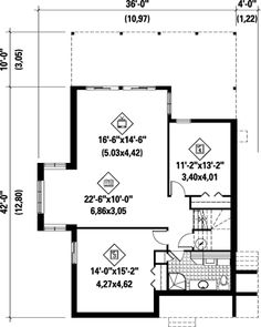 Lower Floor Plan of House Plan 52804