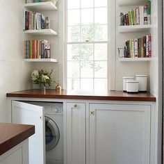 hiding a washer and dryer in the bathroom - Google Search