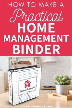 How to make a practical home management binder that simplifies your to-do list. A must-have home management tool for every household. #Organizing #ProductivityTips #organizingmoms Clutter Organization, Paper Organization, College Organization, Organized Mom, Getting Organized, Weekly Planner Printable, Printable Calendars, Bathroom Storage Solutions, Home Binder