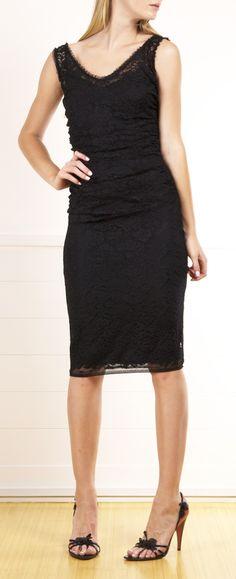 Net Lace Sleeveless Dress Cotton blend sleeveless v-neck sheath dress