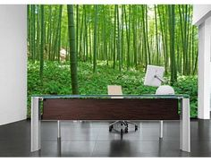 """""""Bamboo Forest"""". A wall mural from Muralunique.com. https://www.muralunique.com/bamboo-forest-12-x-8-366m-x-244m.html"""