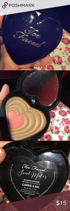 Too Faced Soul Mates Carrie&Big blushing bronzer Too Faced Soul Mates Carrie&Big blushing bronzer Too Faced Makeup Bronzer