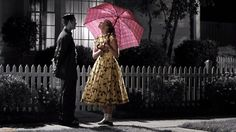 "129 Of The Most Beautiful Shots In Movie History: Pleasantville (1998) -- Going out with ""that colored girl..."""