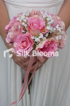 wedding bouquets with babys breath,cala lilies and roses | Lily Wedding Top Table Gorgeous Pink and Ivory Rose and Easter Lily ...