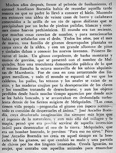 """Cien Años de Soledad - primera página.......""""como si esperara encontrarla en algún lugar del aire"""""""