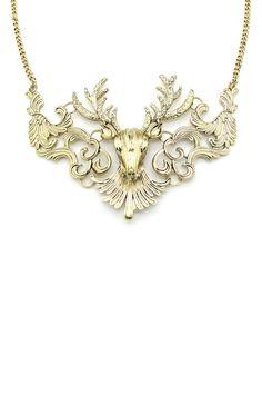 Deer Head Pendant Necklace