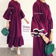 SOLD OUT ! A practical and very comfortable dress with a wonderful summer material and a simple and modern . Iranian Women Fashion, Islamic Fashion, Muslim Fashion, Modest Fashion, Fashion Dresses, Modest Dresses, Modest Outfits, Hijab Style Dress, Mode Abaya