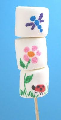 marshmallow art | The Decorated Cookie