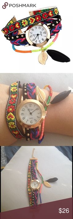 ❗️final Sale ❗️Feather charm watch NWOT watch with a feather charm. Accessories Watches