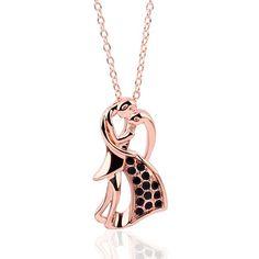 Купить товар18KGP N226 Черный Любовник Ожерелье 18 К K Позолоченный Модные…