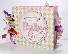 Baby Girl Scrapbook Mini Album Premade, Sweet Baby Girl, Baby Shower Gift