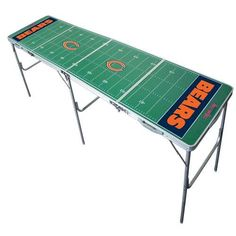 Wild Sports 8ft Chicago Bears Tailgate Pong Table, Licensed NFL Table, 2x8, 8 Feet, Aluminum, Lightweight, Portable