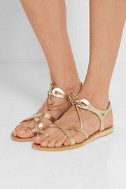 Grace metallic leather sandals