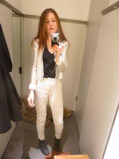 Swallow print skinny jeans - http://bit.ly/z0rt9f