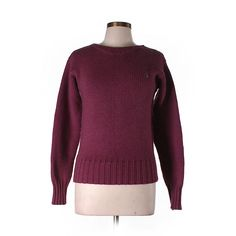 Pre-owned Polo by Ralph Lauren  Wool Pullover Sweater ($27) ❤ liked on Polyvore featuring tops, sweaters, purple, pullover tops, pullover sweater, purple pullover sweater, sweater pullover and polo ralph lauren sweaters