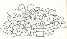 cesta com uvas