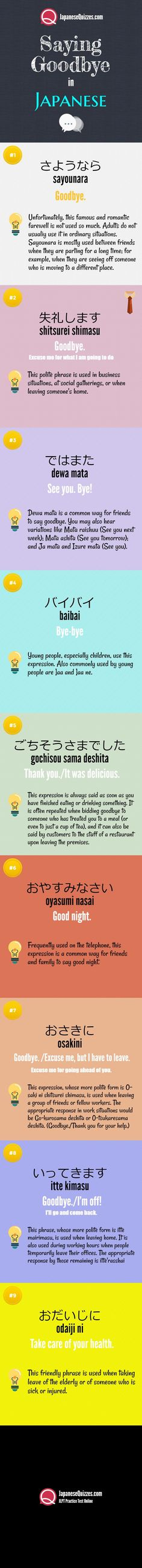 JLPT Practice test online - Saying Goodbye in Japanese