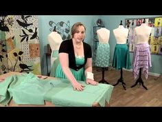 609-3 Stephani Miller has a lesson on draping on It's Sew Easy - YouTube