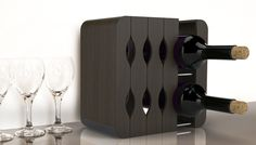 {Mirage Expandable Wine Rack} via Quirky - fab collapsible wine rack!