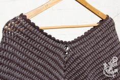 Classic Two Tone Poncho - Crochet Pattern » Coffee & Vanilla