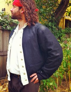 18th century / Sailor / Naval Short Coat Jacket. $129.99, via Etsy ...
