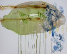 "Ana Zanic: Arcadia Cloud 2, watercolor on Arches board, 32""x40"""