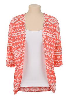 Colored Ethnic print cardiwrap (original price, $29) available at #Maurices