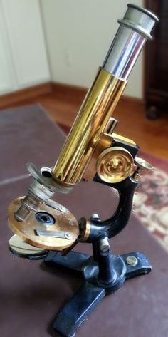 Beautiful Antique Bausch & Lomb Microscope circa 1890. Made with Brass, Glass and Cast iron. Beautiful as a decor piece in your home or office and as the perfect addition for any collector of antique scientific instruments and microscopes. Made in Rochester, NY late 19th Century! Enjoy & happy bidding!