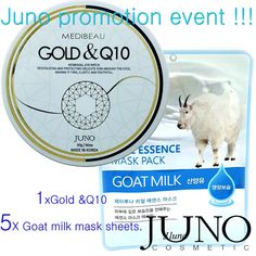 JUNO promotion event Hydrogel patches for the eyes Juno Gold and ( 60 pcs )